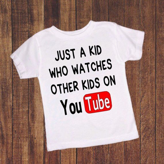 e8255f0cbd Youth Shirt, Toddler T-Shirt, You Tube Shirt, Funny Kid Shirt, Toddler Boy  Clothing, Toddler Girl Cl