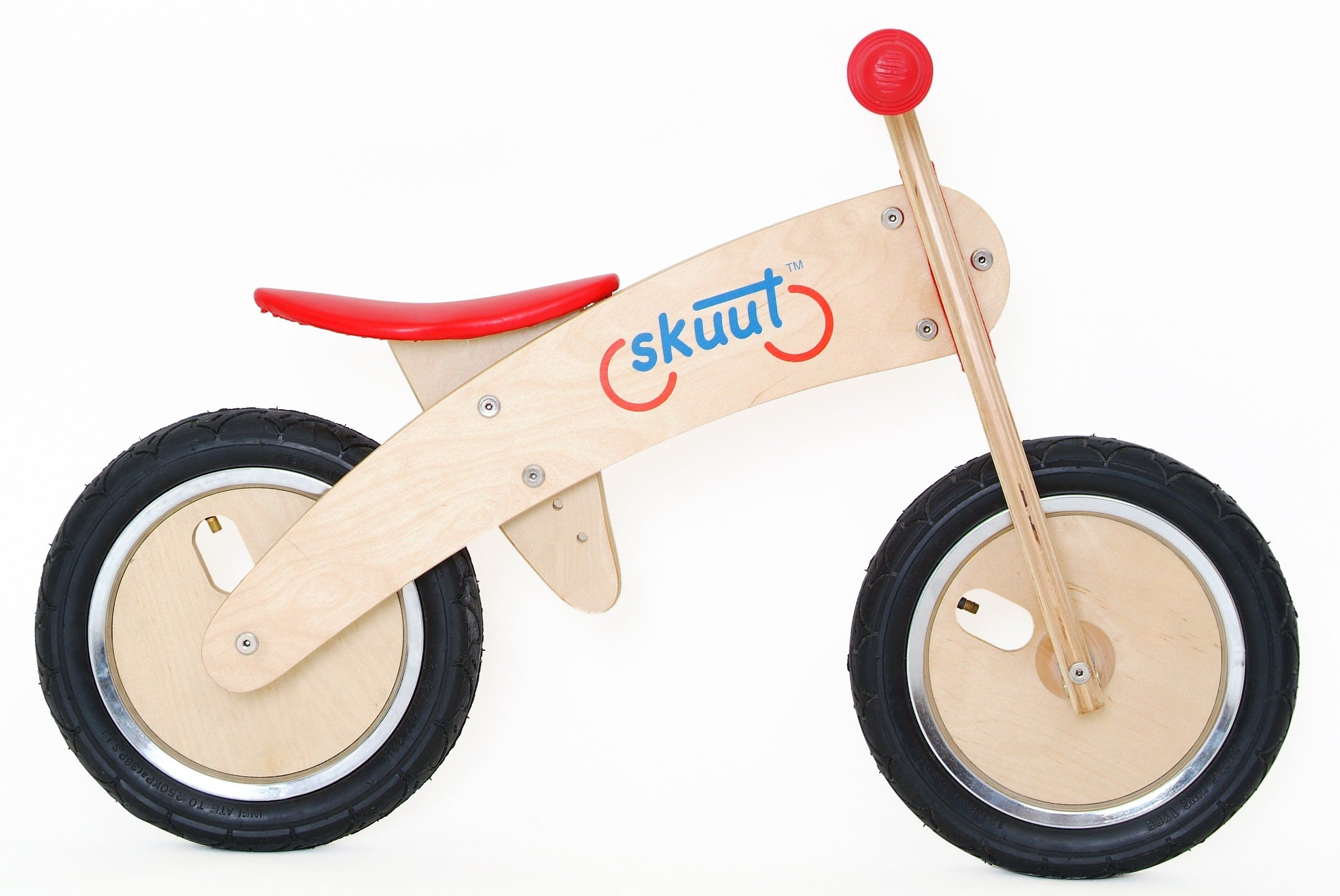 Diggin Active Skuut Wooden Balance Bike Red Balance Bike Kids