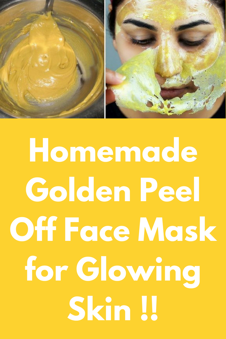 Homemade Golden Peel Off Face Mask for Glowing Skin
