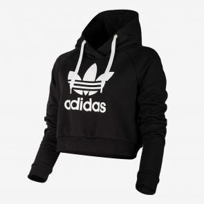 a373c055c0 Camisola Adidas Trefoil Crop Moletons Com Capuz