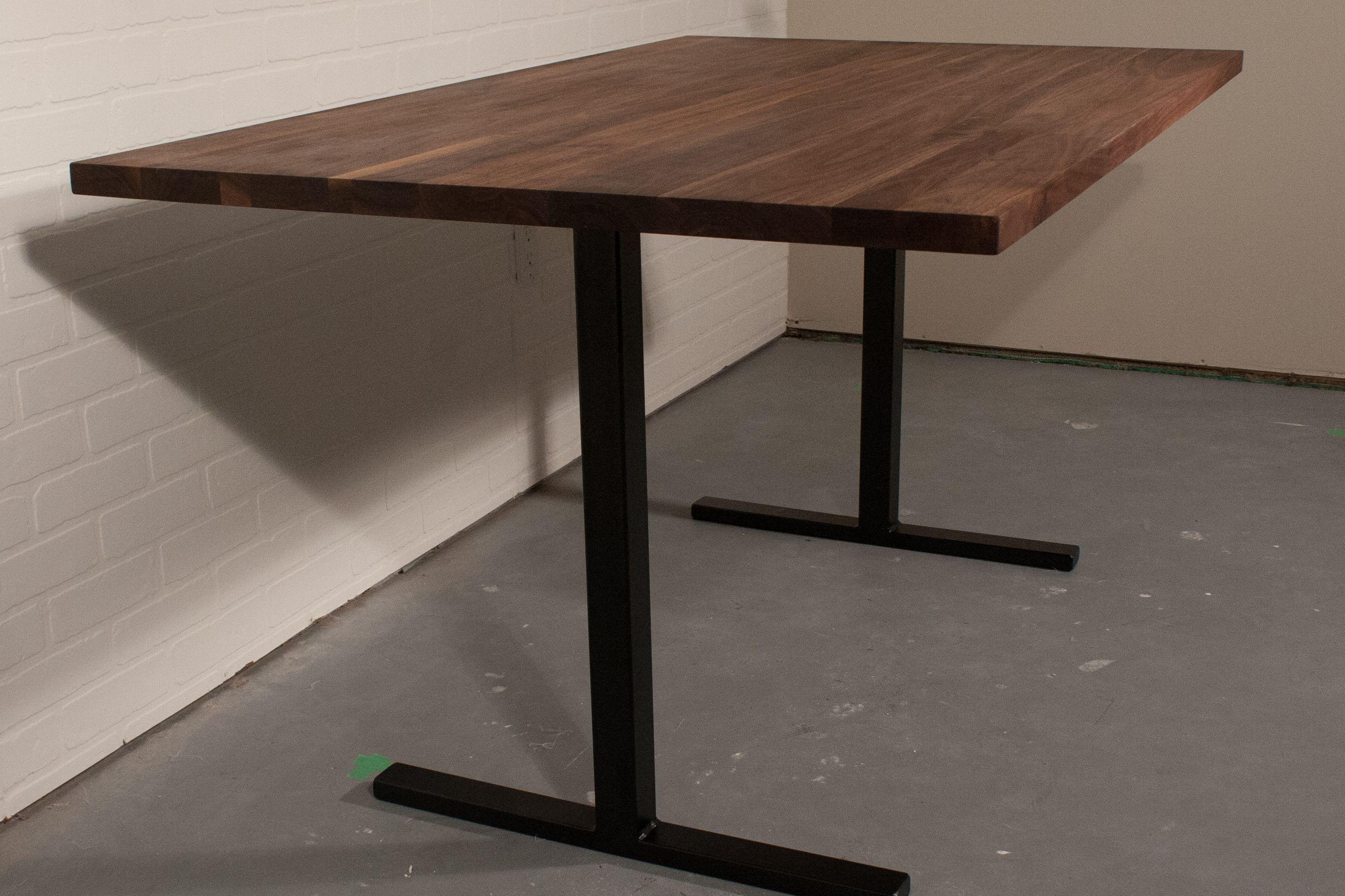 Modern Walnut Farmhouse Table Walnut Dining Table on