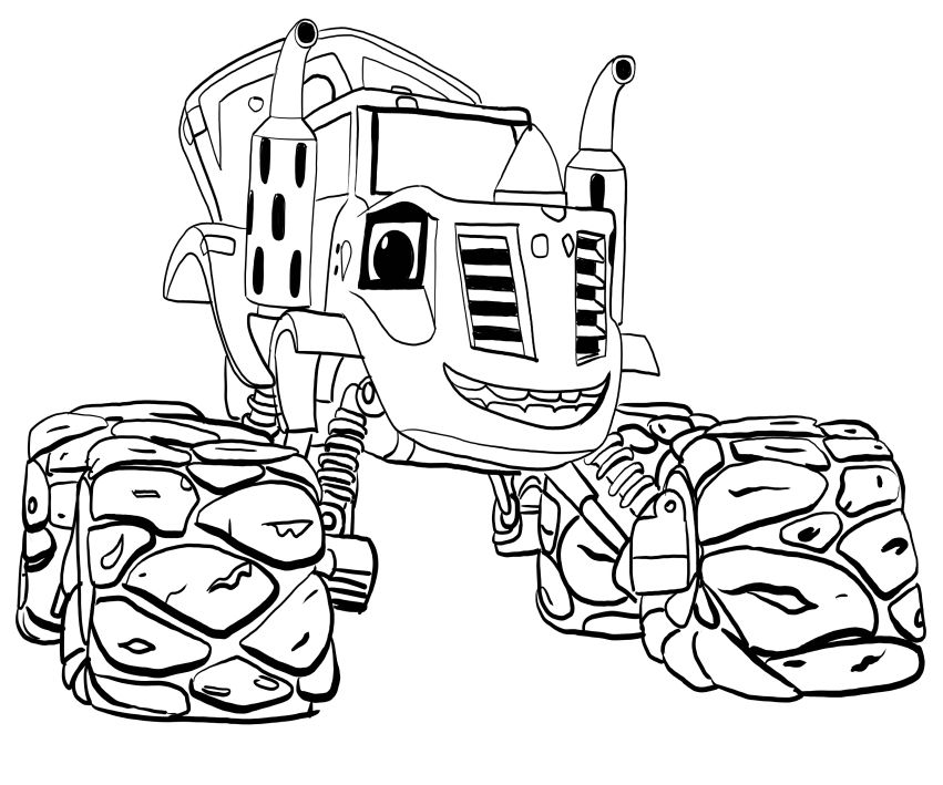 Blaze And The Monster Machines Coloring Pages Best Coloring Pages For Kids Coloring Pages For Kids Nick Jr Coloring Pages Coloring Pages