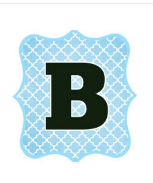 Letra B Azul Negro Y Blanco  AbecedarioLetras    Banners