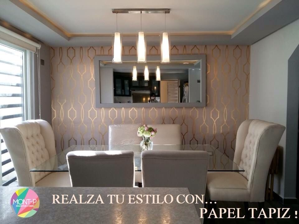 pared para sala comedor papel tapiz pinterest
