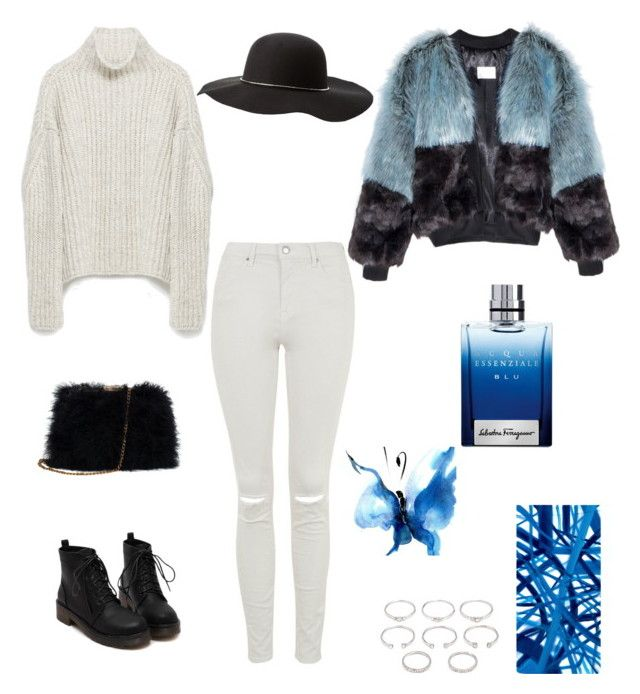 """bluesky"" by raffyangy95 on Polyvore featuring Forever 21, Topshop, Zara, Charlotte Russe, Barclay Butera and Salvatore Ferragamo"