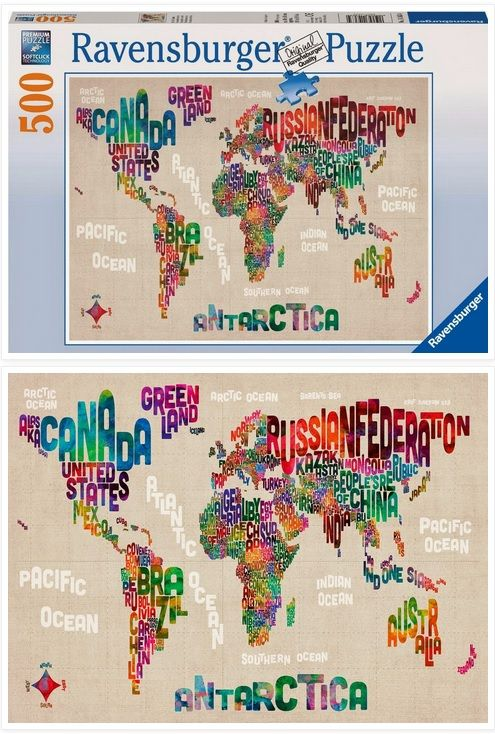 New world map in words ravensburger jigsaw puzzle do you know what new world map in words ravensburger jigsaw puzzle do you know what era the lettering is from it seems retro somehow gumiabroncs Choice Image