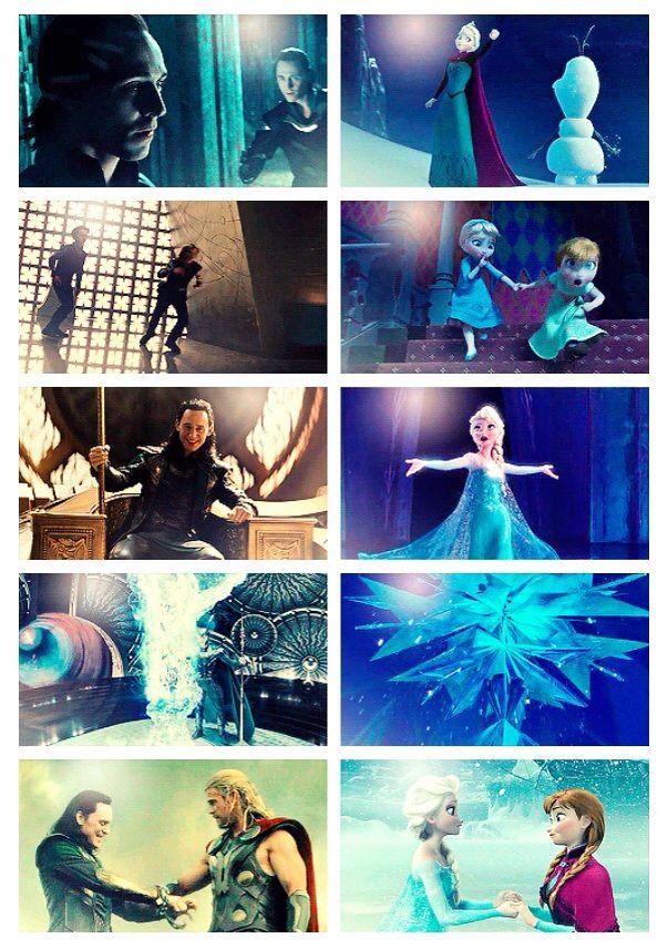 Loki/Thor and Elsa/Anna parallels | The Avengers | Pinterest