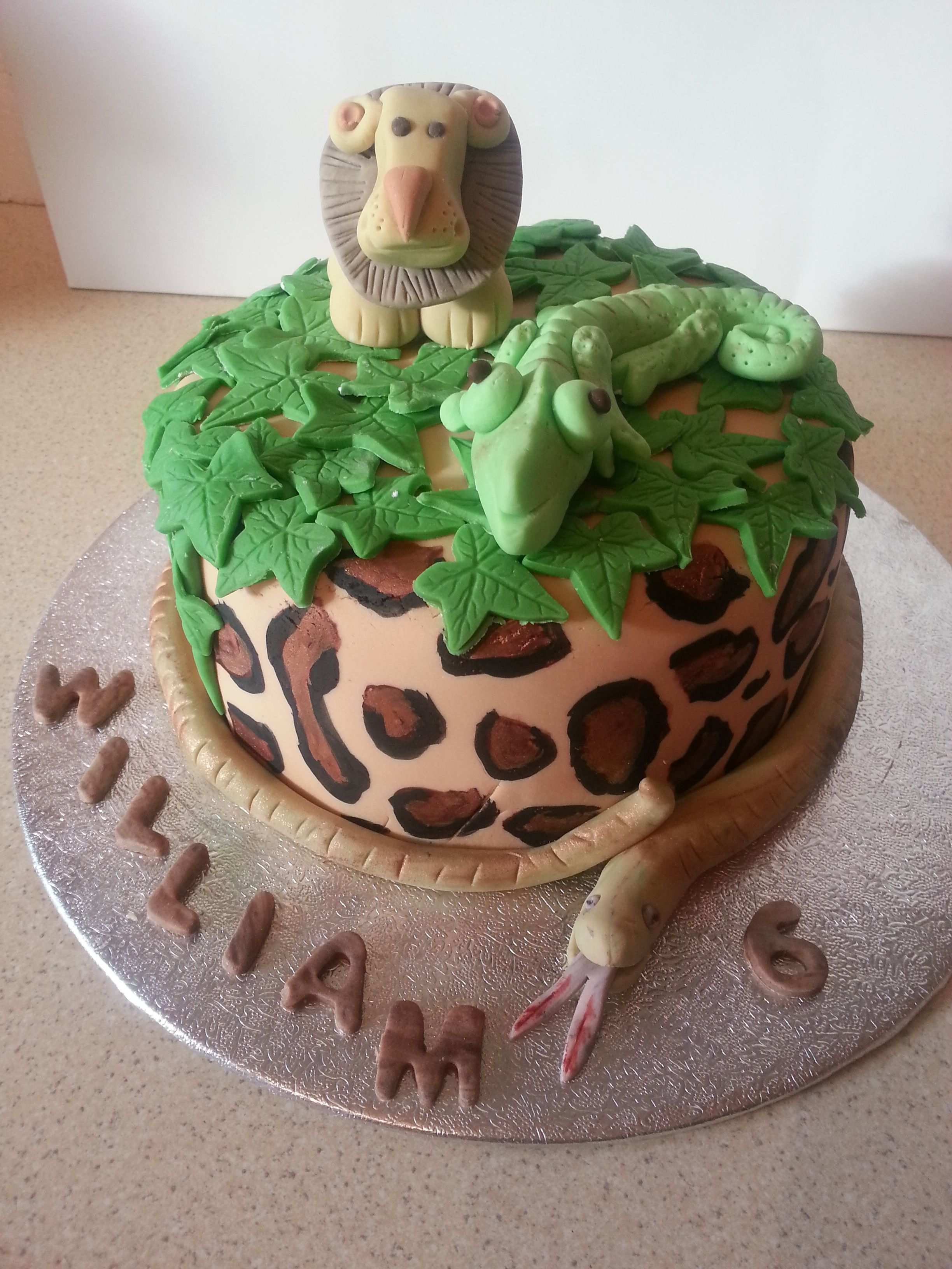 Jungle Themed 6 Inch Birthday Cake