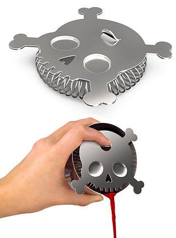 Bar Bones Skull Cocktail Strainer at PLASTICLAND