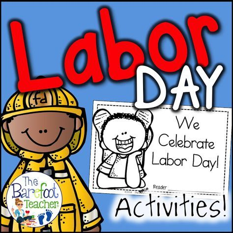 These Labor Day activities for Preschool, Kindergarten, or First Grade students will go right along with the other lessons, arts and crafts that you have planned for your community helpers unit. Lesson plans that will engage your students! #laborday #labordayforkids #labordayactivities #kindergarten #emergentreaders #labordayactivitiesforkids #labordayreader #firstgrade #labordaycraftsforkids