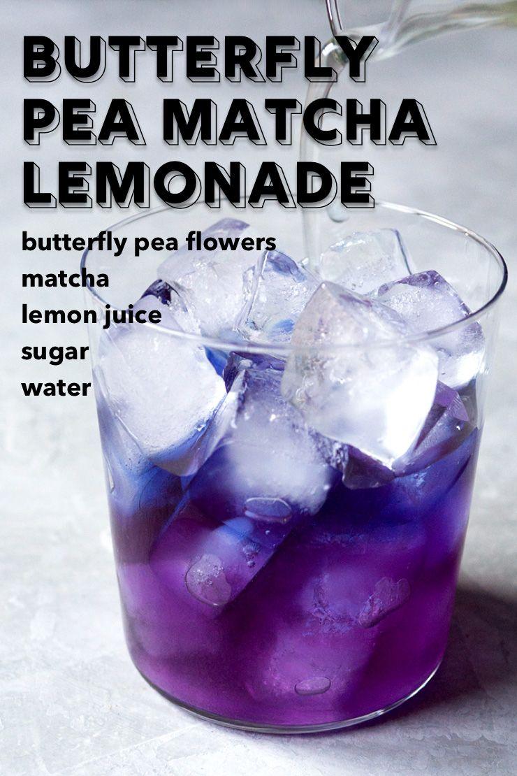 Butterfly pea flower matcha lemonade matcha lemonade