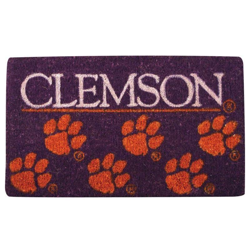 Clemson Tigers 18x30 All Natural Artisans Coir Fiber