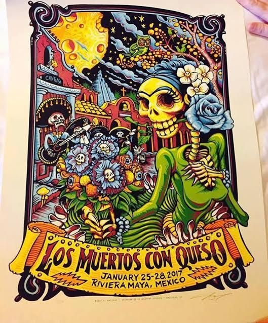 8caff7dbfa3 Dead and Company - Concert Poster from Riviera Maya Mexico