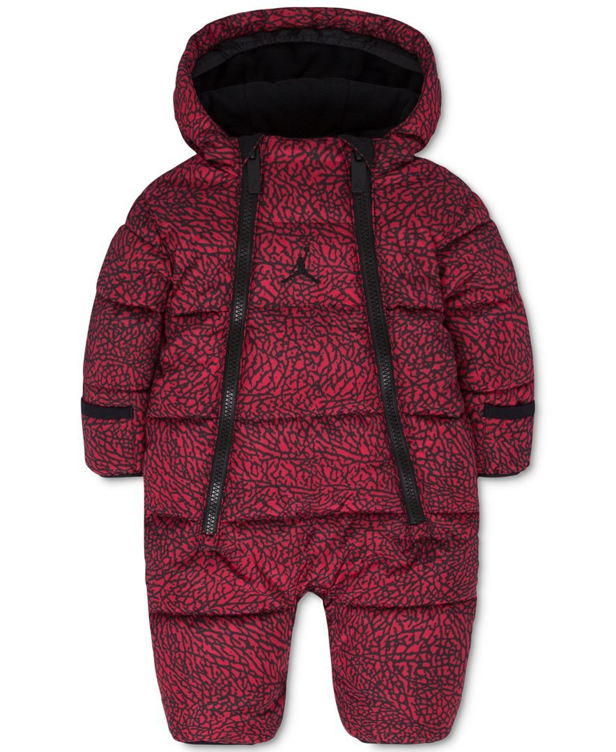 1bdac0d90 Jordan Baby Boys' or Baby Girls' Hooded Abstract-Print Snowsuit ...