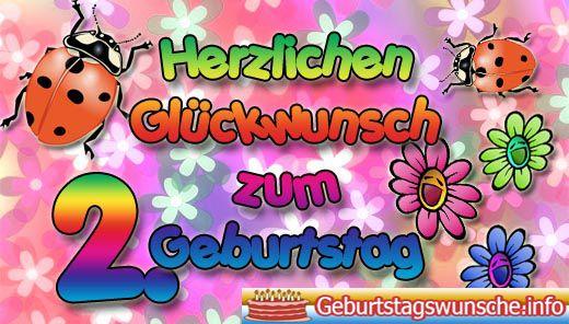 Gluckwunsche Zum 2 Geburtstag Wunsche Zum Geburtstag