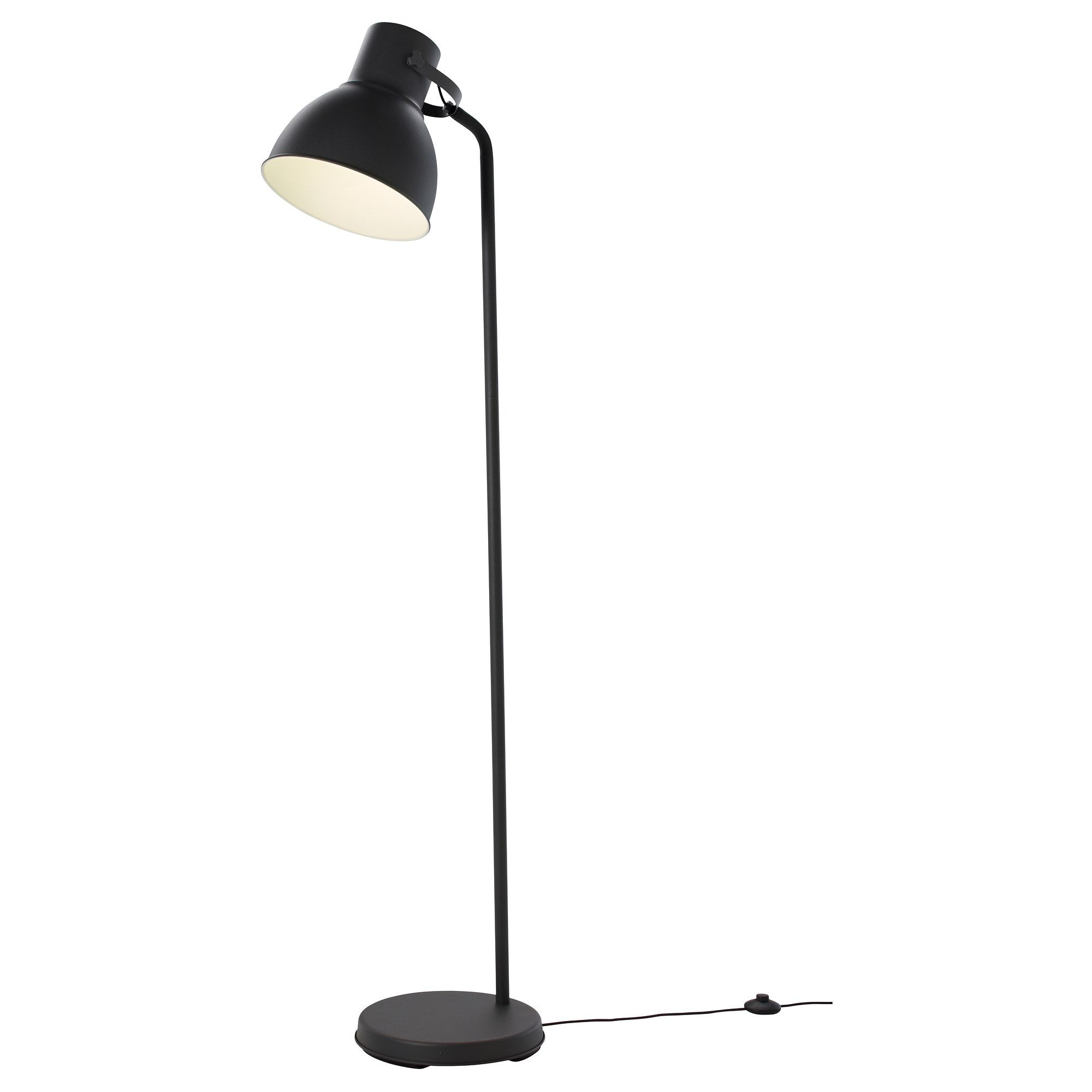HEKTAR Floor lamp with LED bulb, dark gray - IKEA