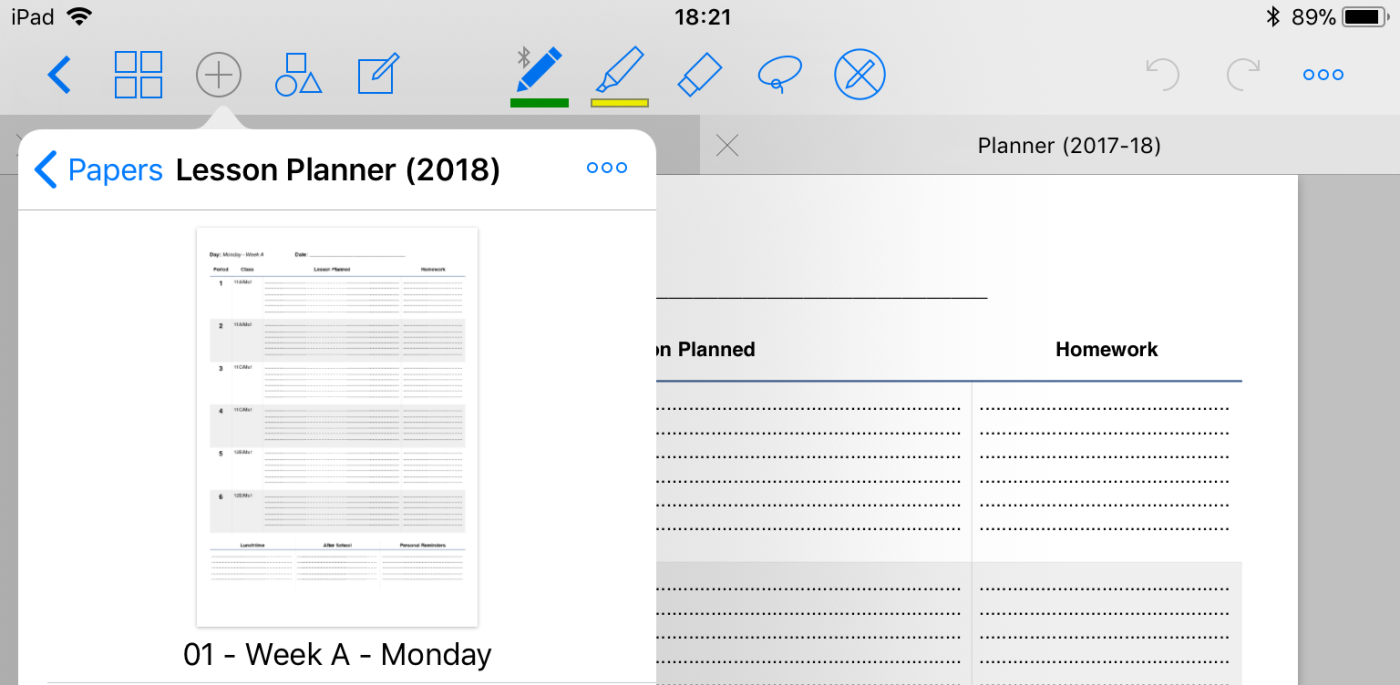 Making teaching easier with GoodNotes Lesson planner