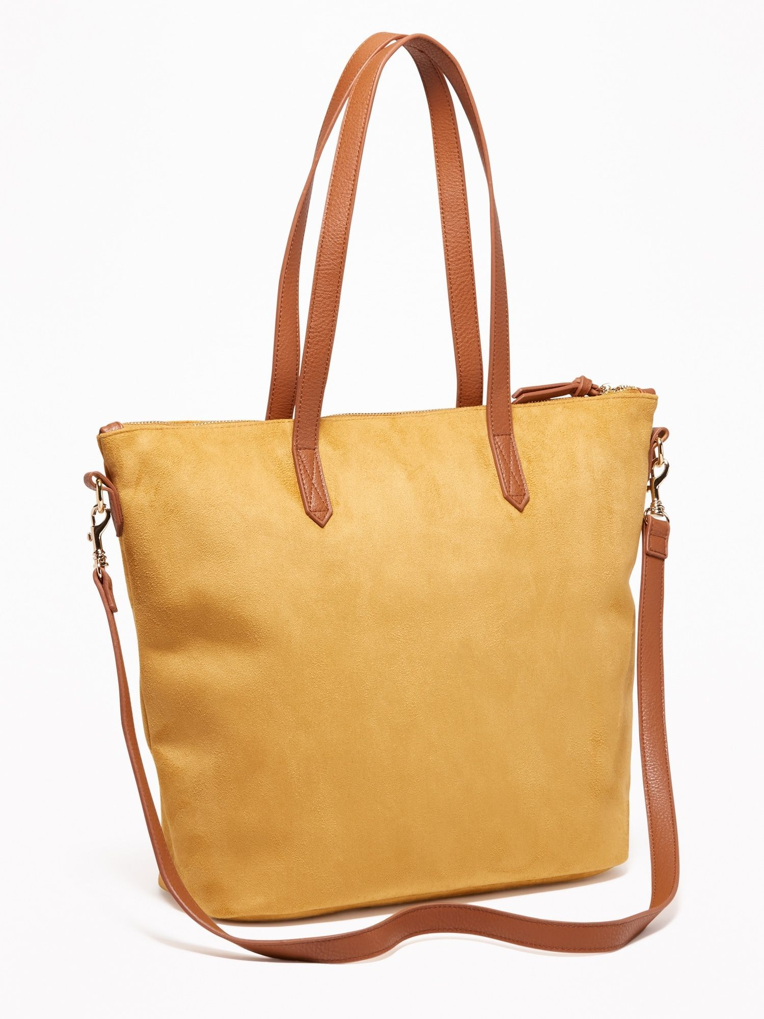 Faux-Suede Zip-Top Tote for Women   Old Navy  nylonziptoptotebag ... 68c0d3ccb0