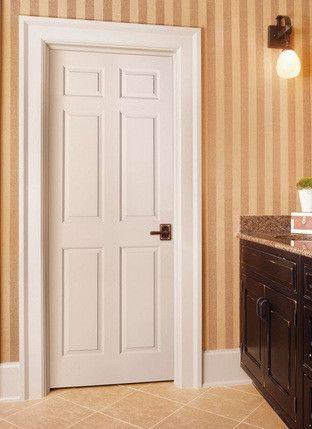 6 Panel Bostonian Solid Core 8 Foot Interior Door Slab