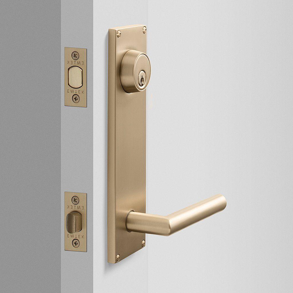 Tate Door Set With Otto Lever Satin Brass Front Door Handles