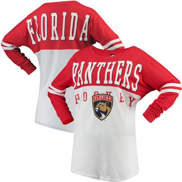 79db6ed5e Florida Panthers   Ocean by New Era Women s Varsity Long Sleeve T-Shirt -  Red