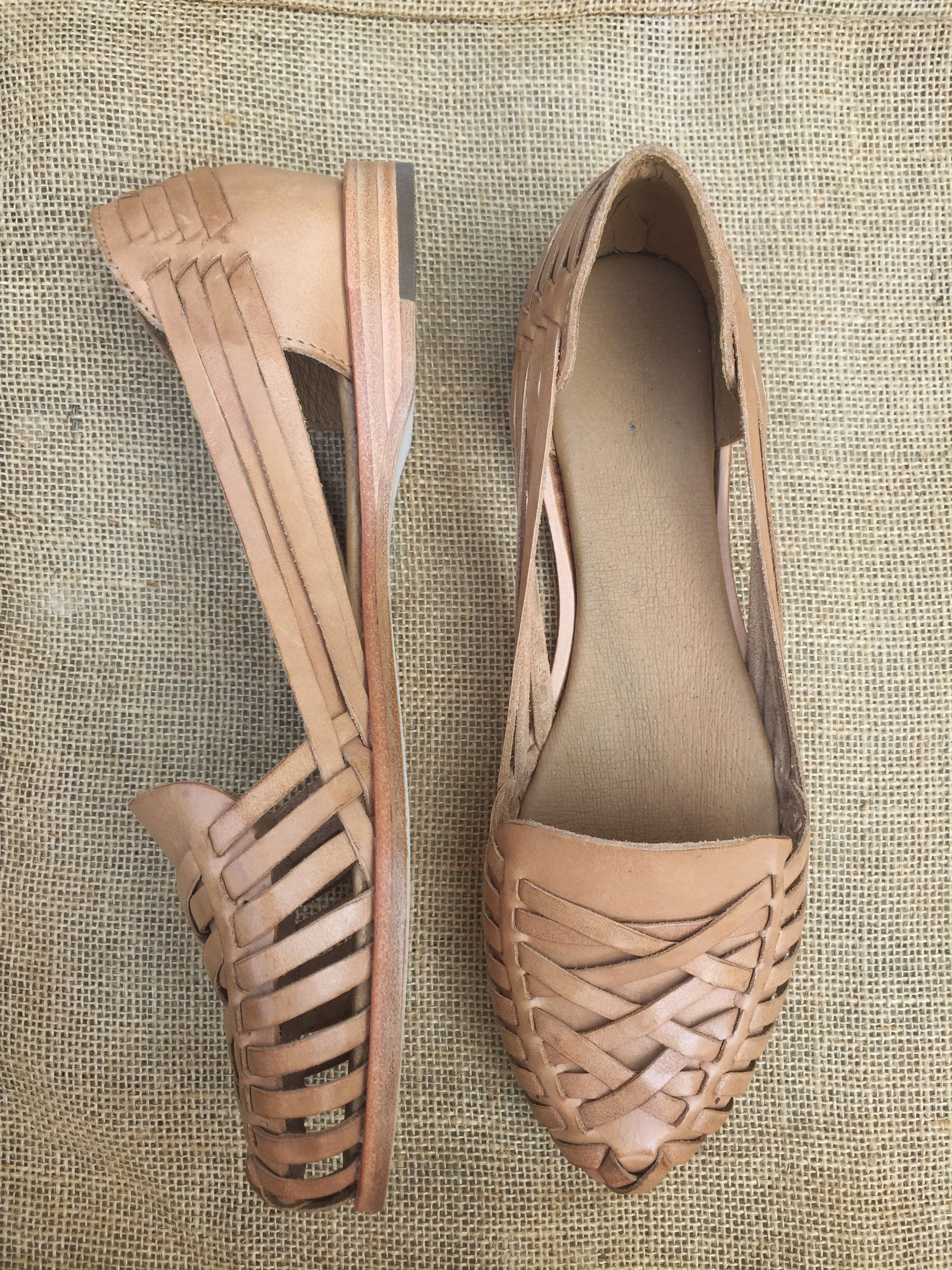468e5f6741c Traditional Mexican woven leather huarache sandals by Stori.