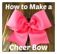 How to Make a Cheer Bow #hairbows