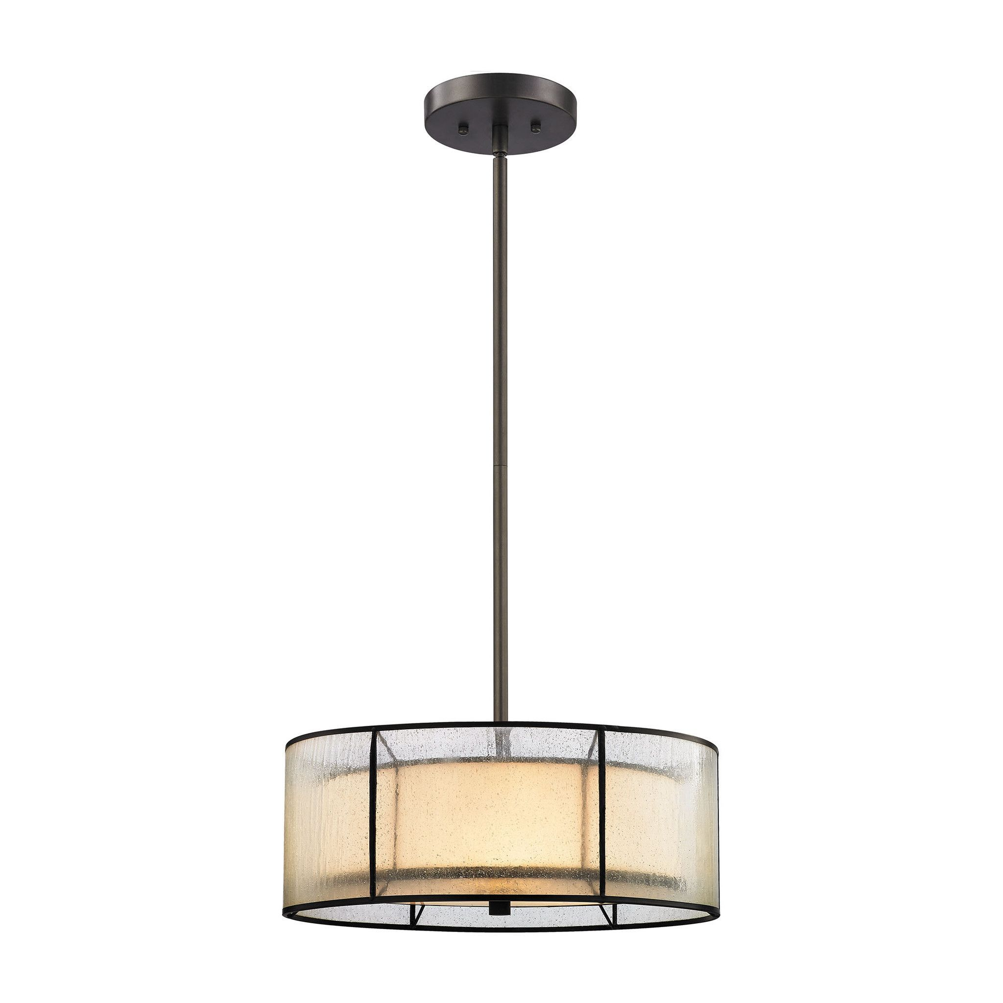 Mirage 3 Light Chandelier In Tiffany Bronze