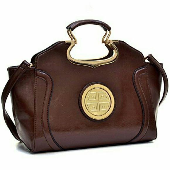 Dasein® Women Faux Leather Satchel Tote Shoulder Bag Purse w// Loop Handle