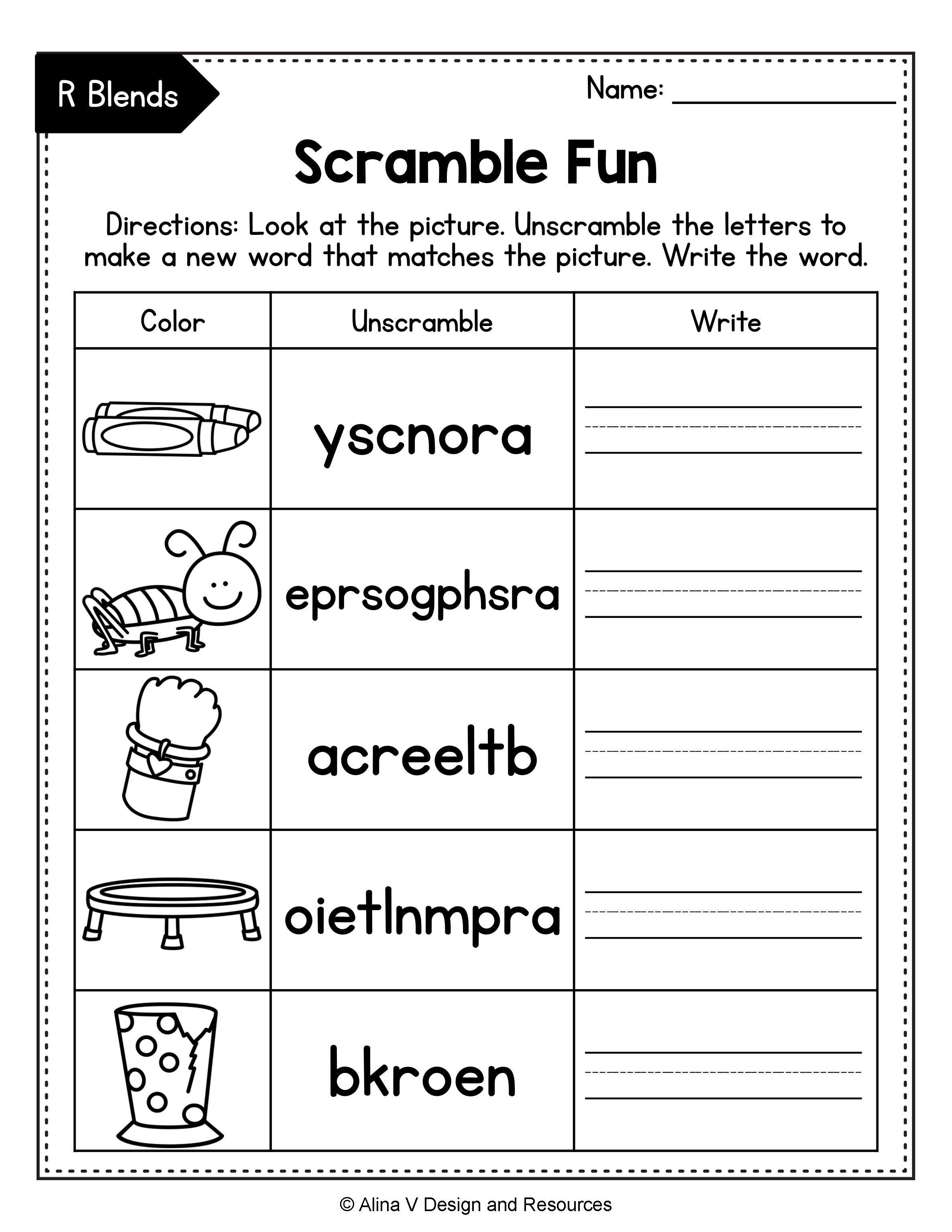 small resolution of Beginning Blends Worksheets BUNDLE - consonant blends   Blends worksheets