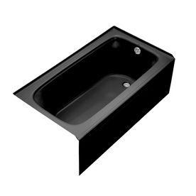 """KOHLER 60"""" x 32"""" Bancroft Black Black Rectangular Skirted Tub"""