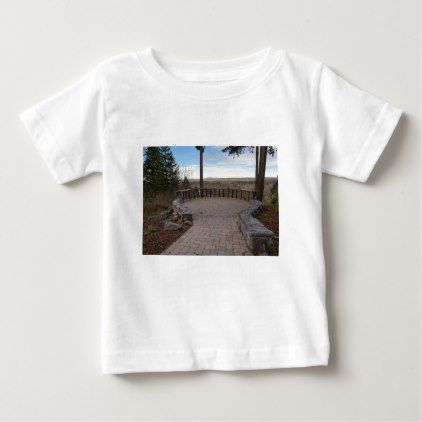 Garden Stone Brick Paver Patio View Deck Baby T Shirt