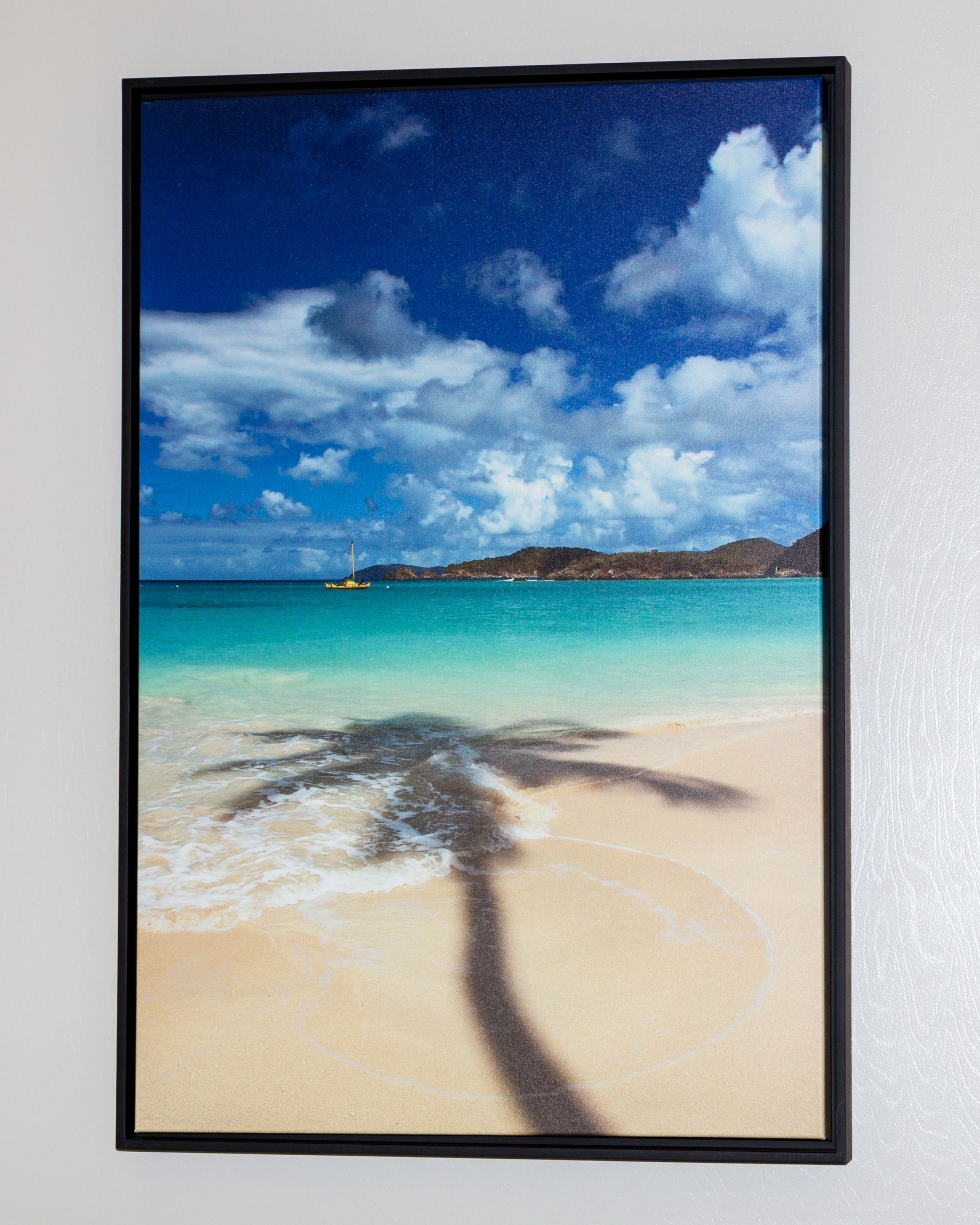 Palm Shadow, framed canvas $295.00 Floater Framed 24x36 Gallery ...