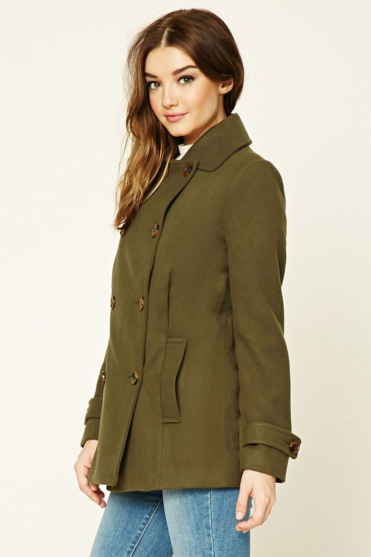 Double-Breasted Pea Coat - Women - Outerwear - 2000213964 ...