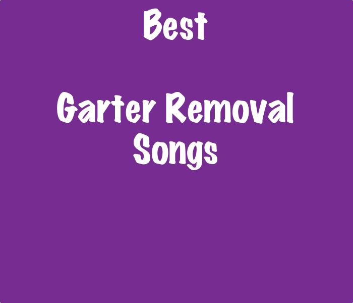 List Of The Best Garter Removal Songs