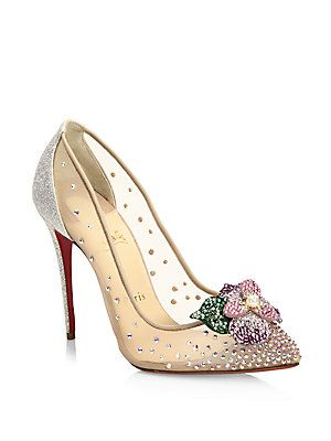 57626156ab04 Christian Louboutin Feerica 100 Strass   Mesh Pumps Modern day Cinderella  slipper.