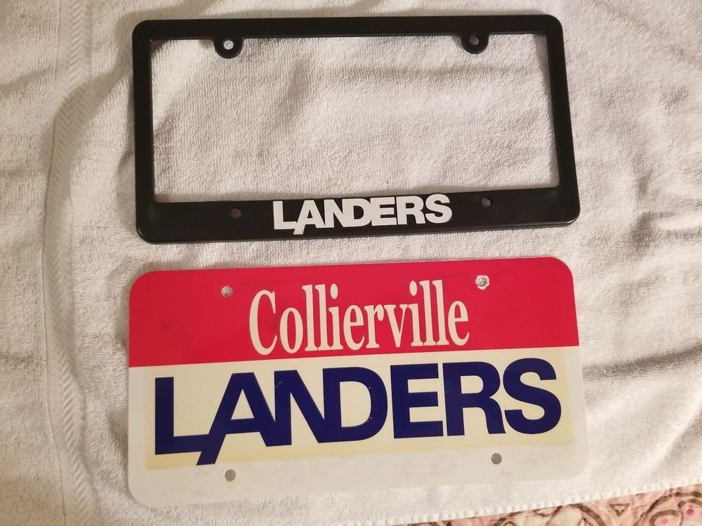 Collierville Tn Landers Ford Dealership Plate License Frame Collierville Landersford Forddealershipplates License Frames Collierville Selling On Ebay