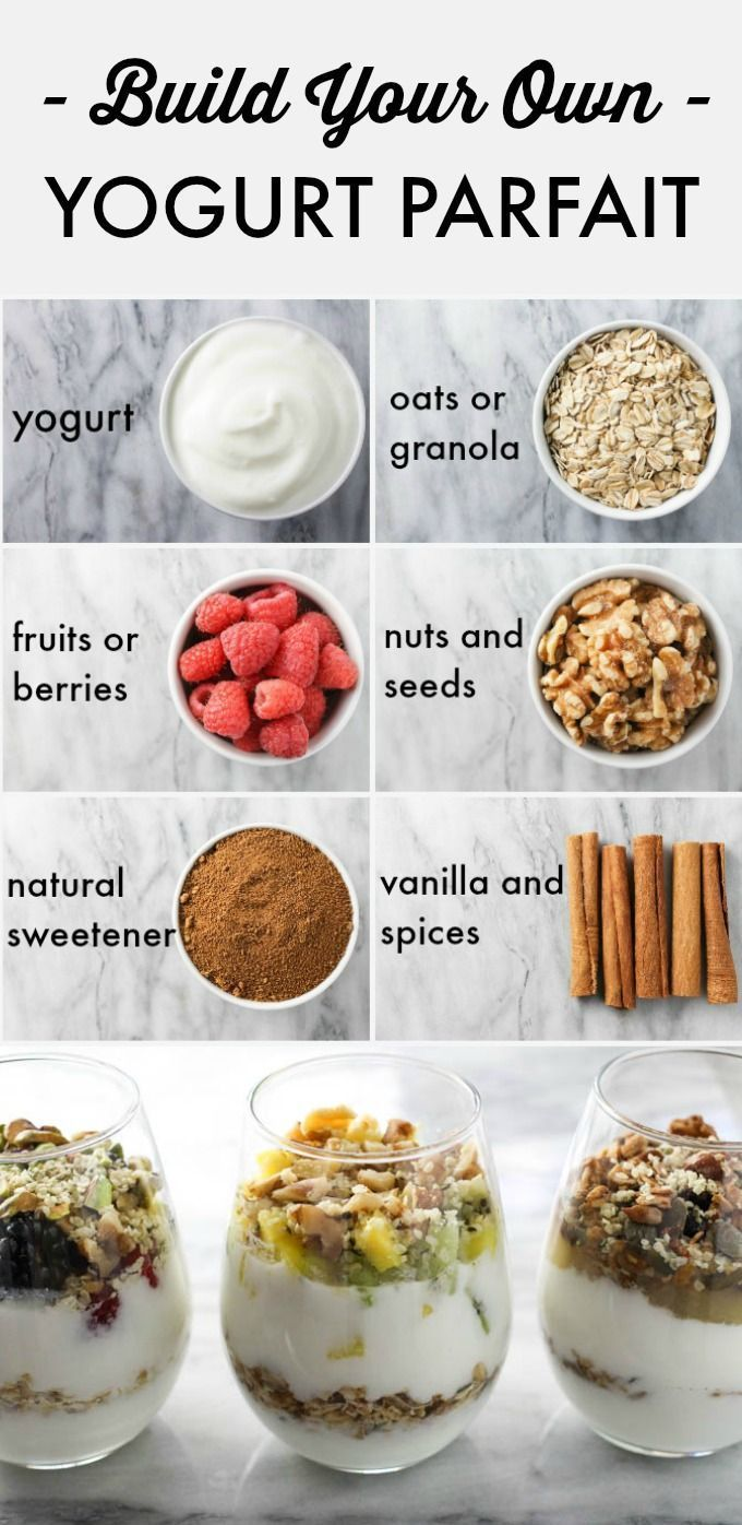 Build your own homemade yogurt parfait to eat for breakfast, as a snack or desse… – Carey&CleanEatingS
