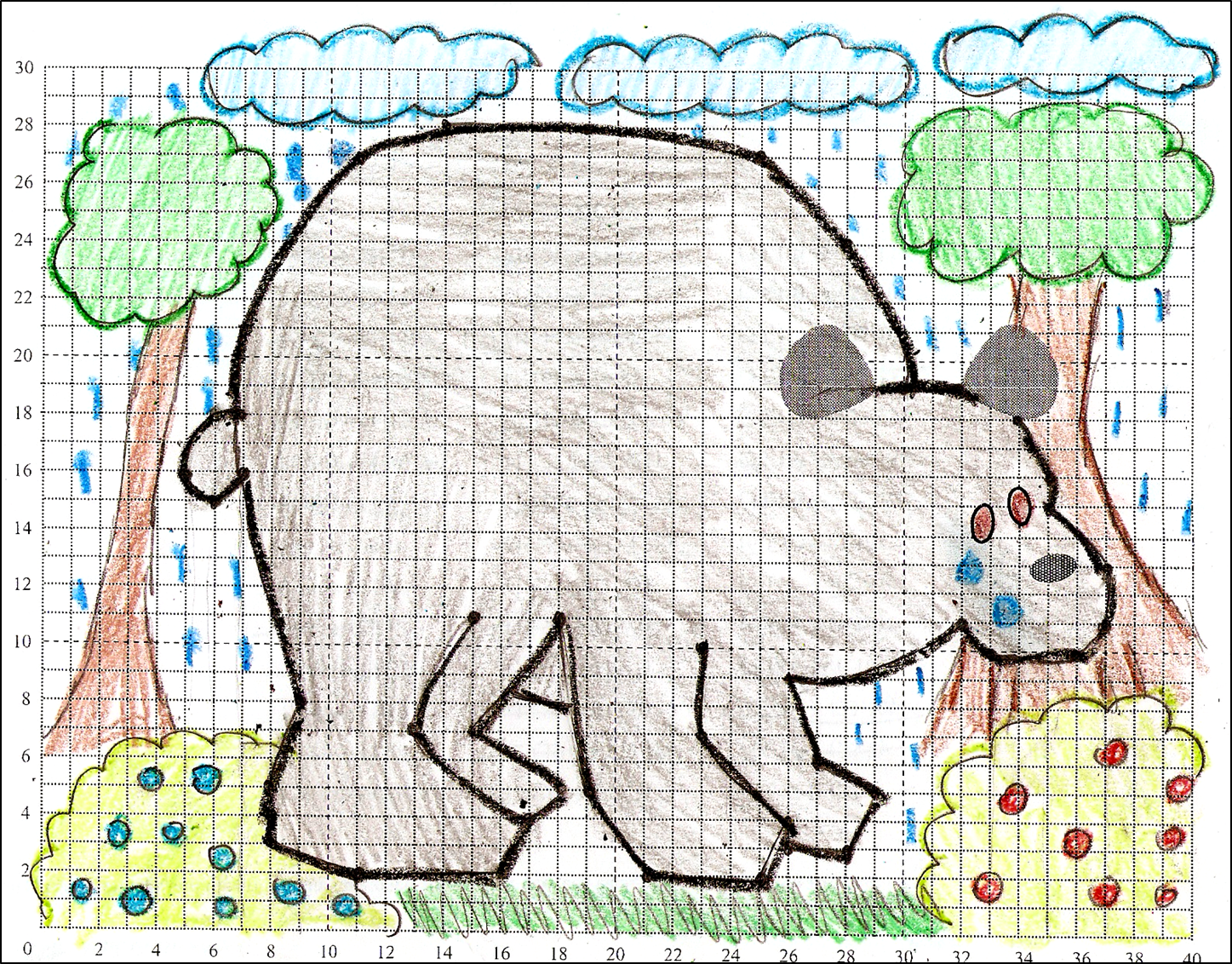 Coordinate Graphing Picture Bear