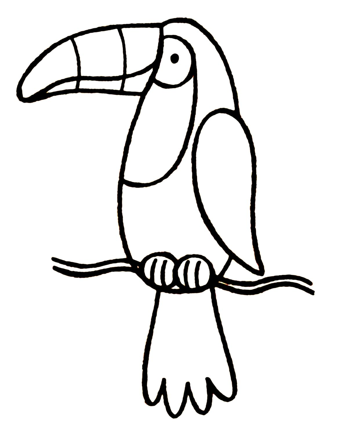 Toucan Coloring Page For Kids Printable Coloring Sheet 99coloring