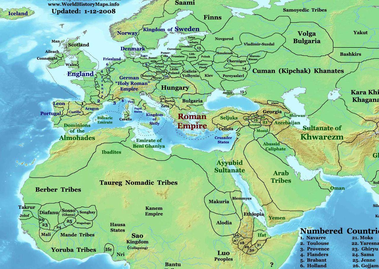 Mapsontheweb Map Of Eastern Hemisphere In Ad