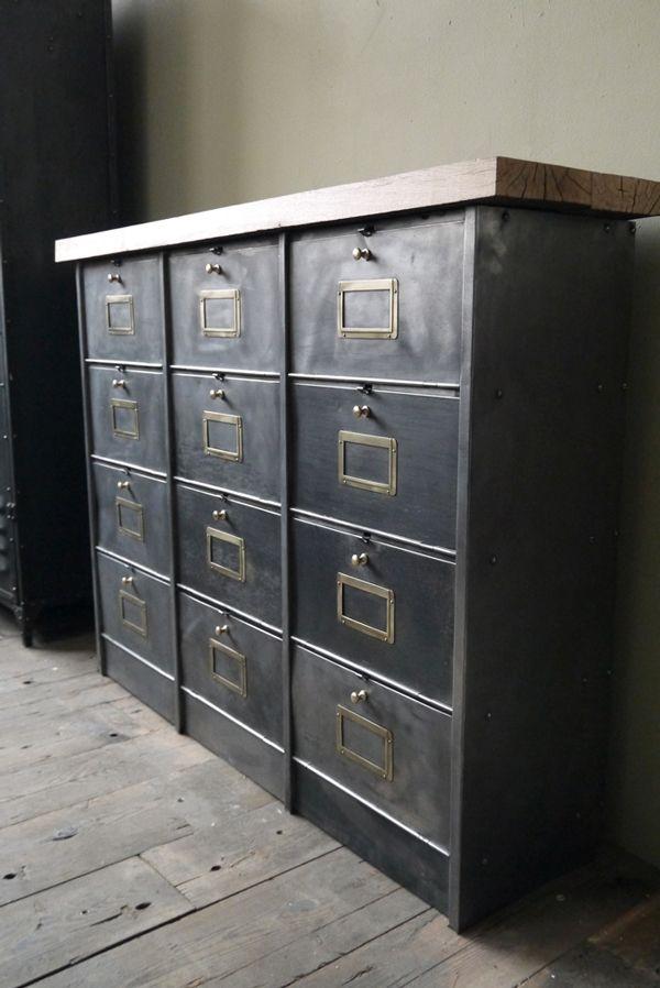 Esprit Loft Auguste Claire Casier Industriel Meuble Metallique Ameublement Industriel Vintage