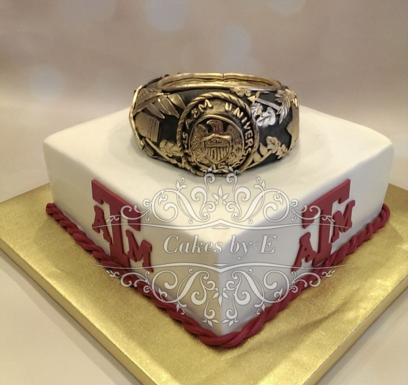 Aggie Ring Cake - all edible - Texas A&M University Graduation ...