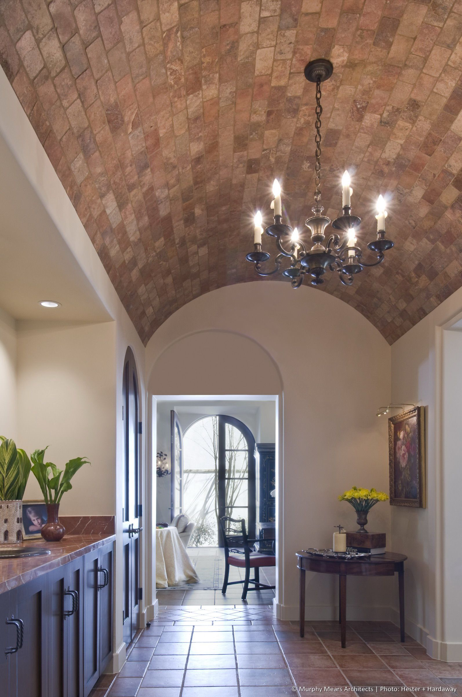 W A Symmetrical House Barrel Vault Ceiling In 2019 Barrel