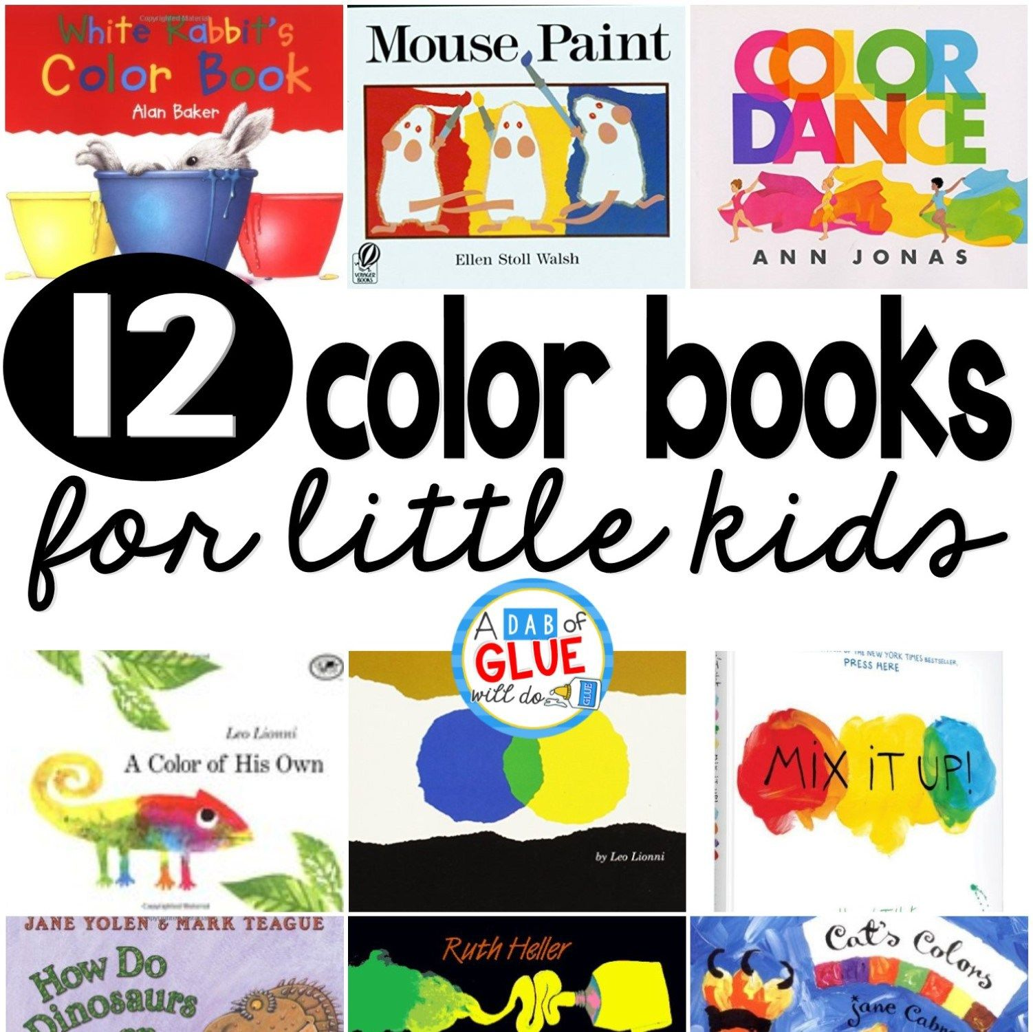 Books about color for kids - 12 Shapes Books For Little Kids