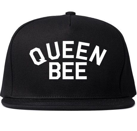 Queen Bee Printed Snapback Cap Womens Cute Black Girls Hat Fashion Lil Kim  History Gangsta King Nicki Minaj d69b047a2640