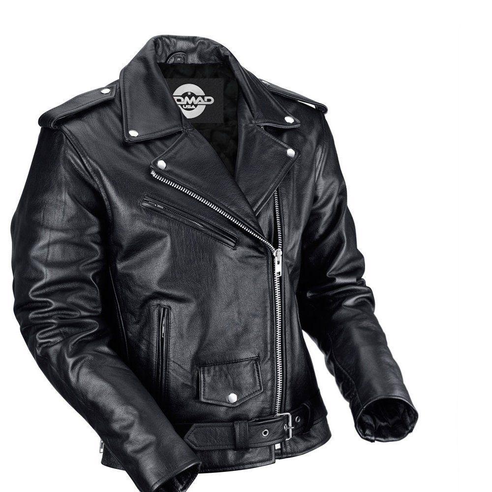 Nomad USA Classic Leather Biker Jacket
