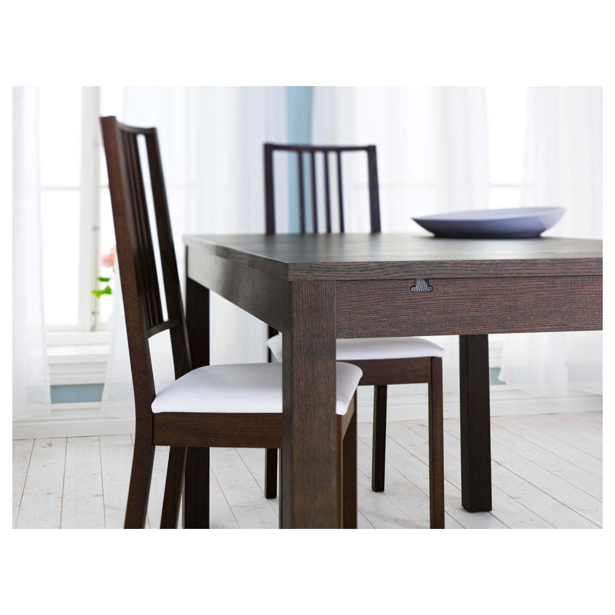 ikea bjursta extendable table brown products. Black Bedroom Furniture Sets. Home Design Ideas