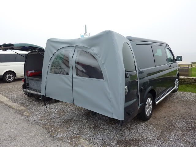 Rear Canopy Awnining Over Barn Doors Rear Door Tent