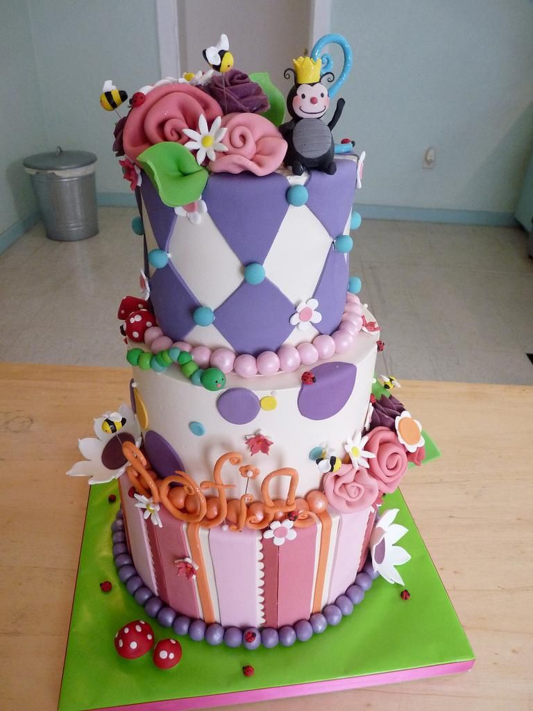 Excellent Whimsical Birthday Cake Girl Cakes Fondant Cakes Funny Birthday Cards Online Alyptdamsfinfo